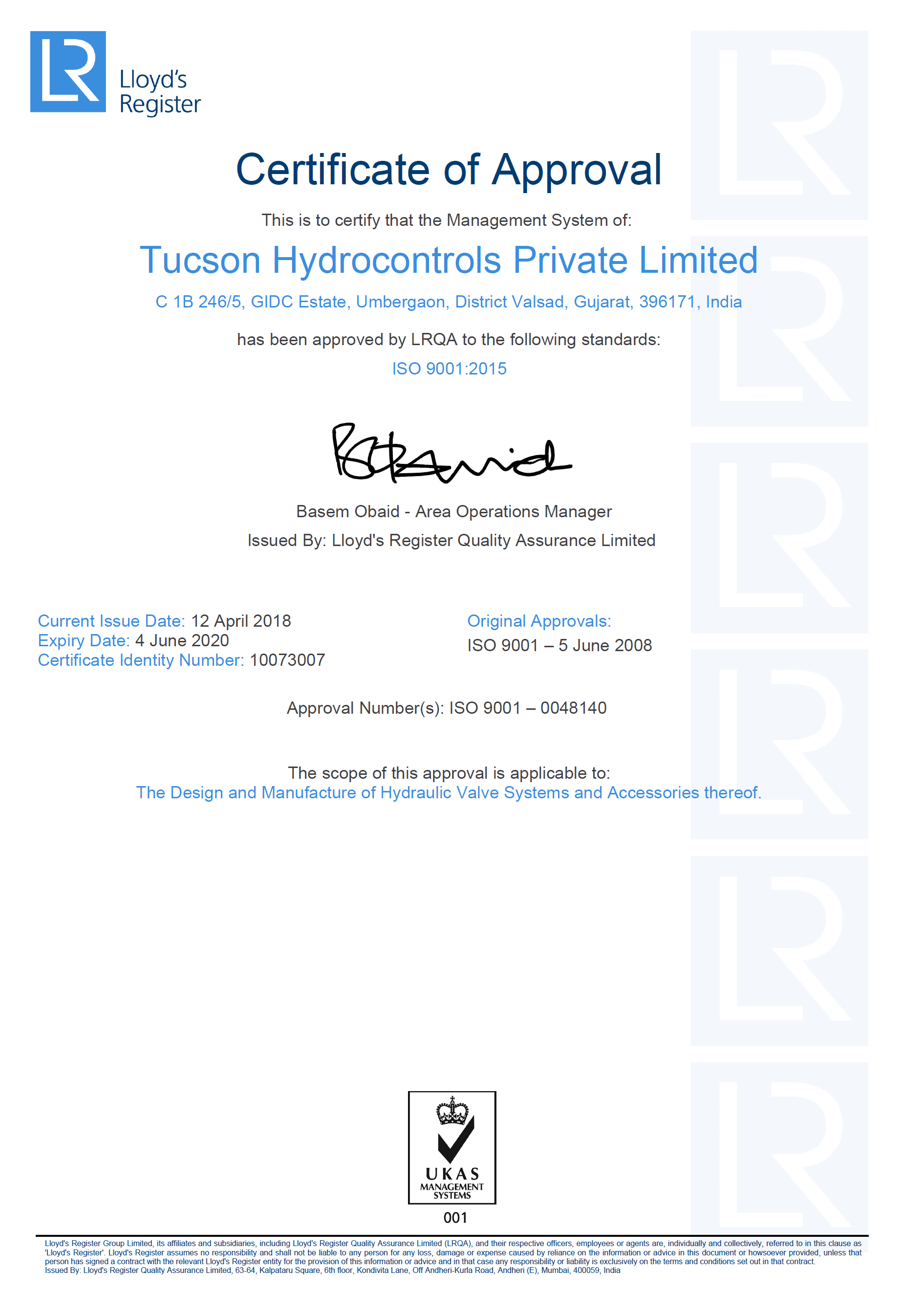 ISO 9001.2015 Certificate - THPL 2020.06.04 - 10073007