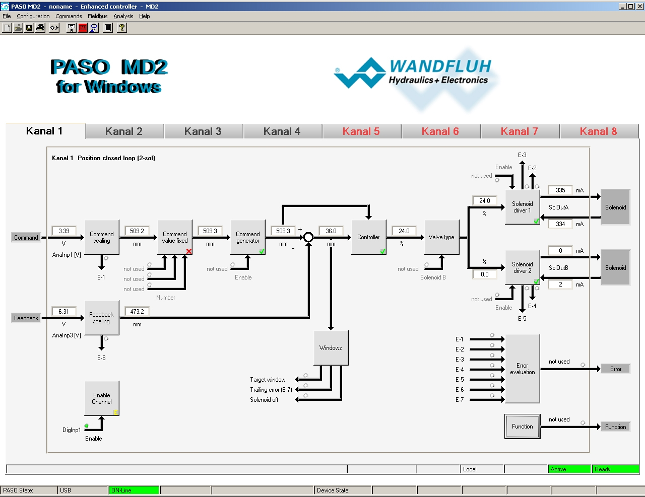 PASO Operating Software